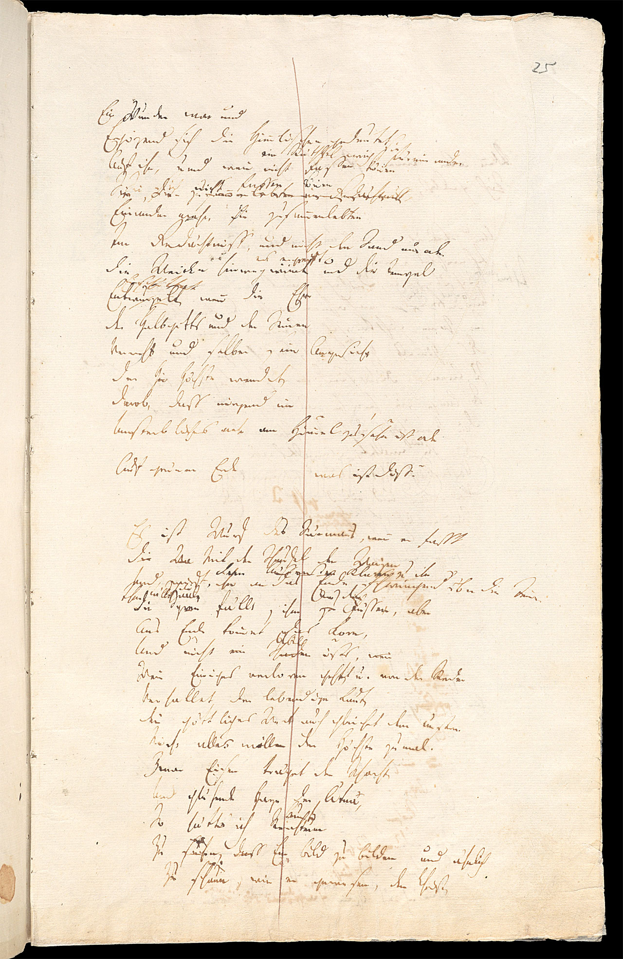 Friedrich Hölderlin, Homburger Folioheft, Seite 25, Patmos, Handschrift