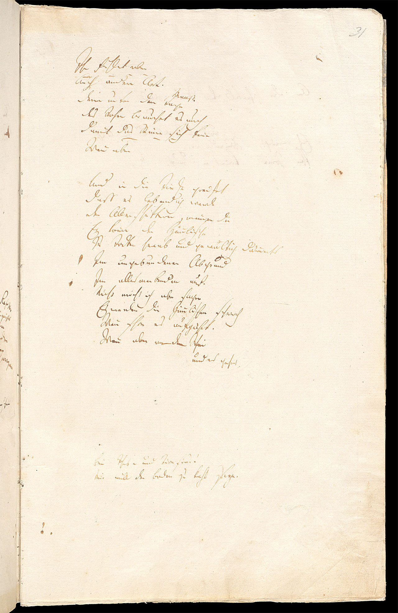 Friedrich Hölderlin, Homburger Folioheft, Seite 31, Die Titanen, Handschrift