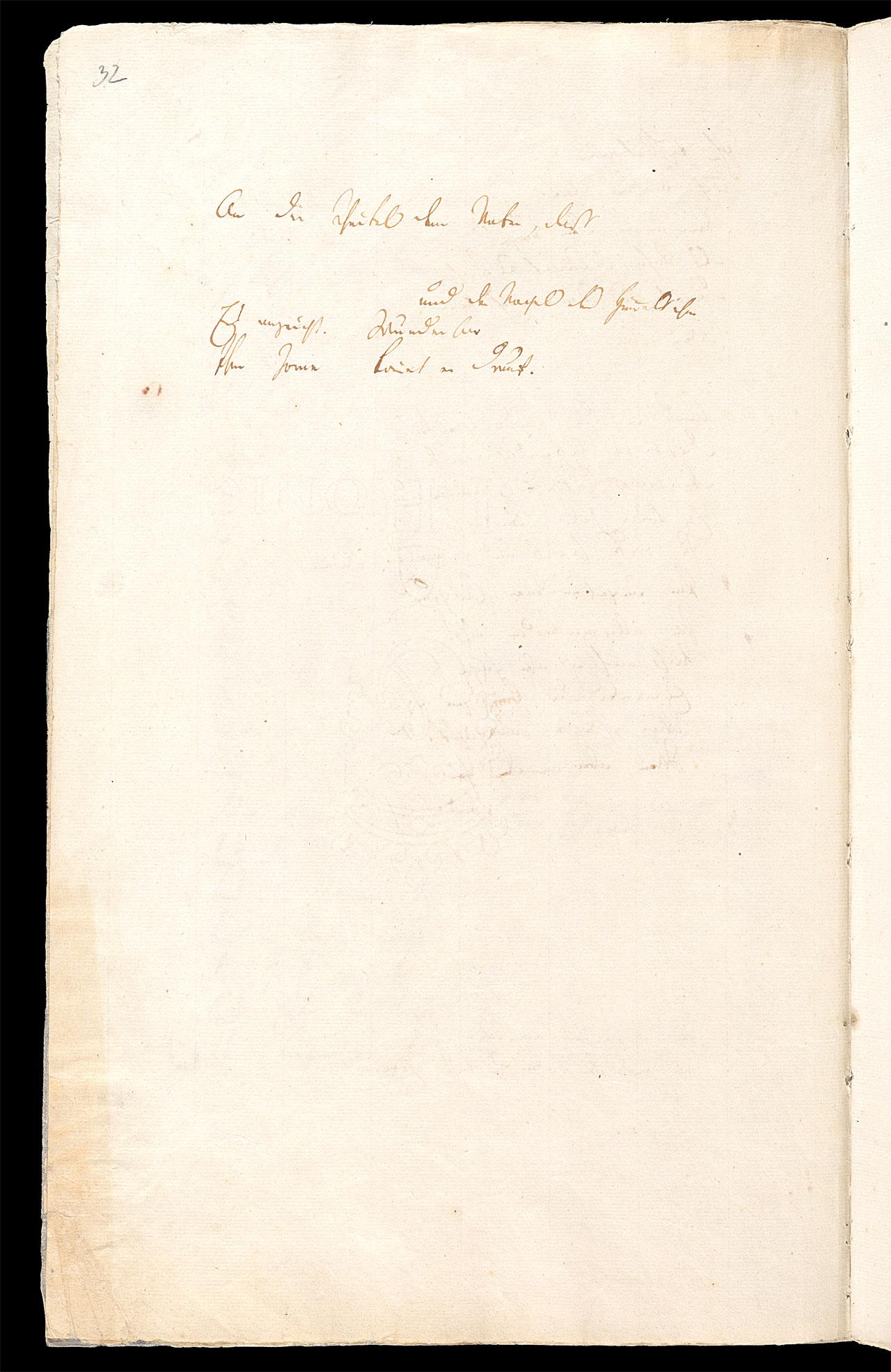 Friedrich Hölderlin, Homburger Folioheft, Seite 32, Die Titanen, Handschrift
