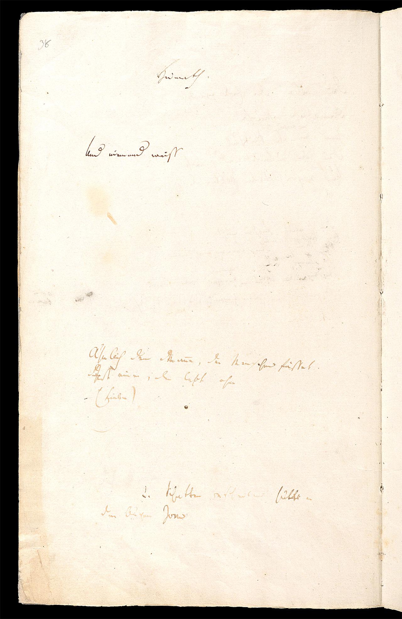 Friedrich Hölderlin, Homburger Folioheft, Seite 38, Heimath, Handschrift