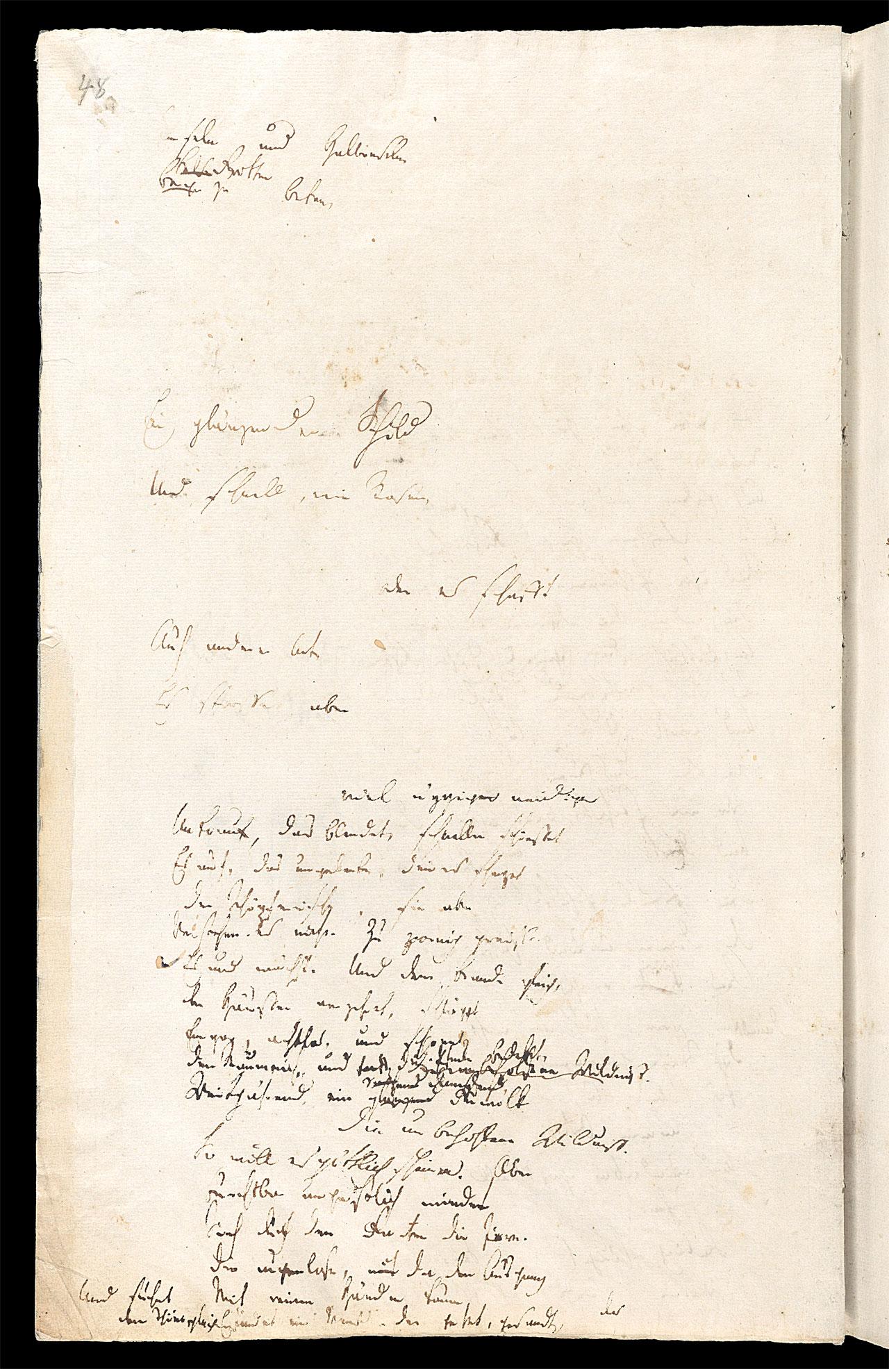 Friedrich Hölderlin, Homburger Folioheft, Seite 48, Inseln und Halbinseln…, Handschrift