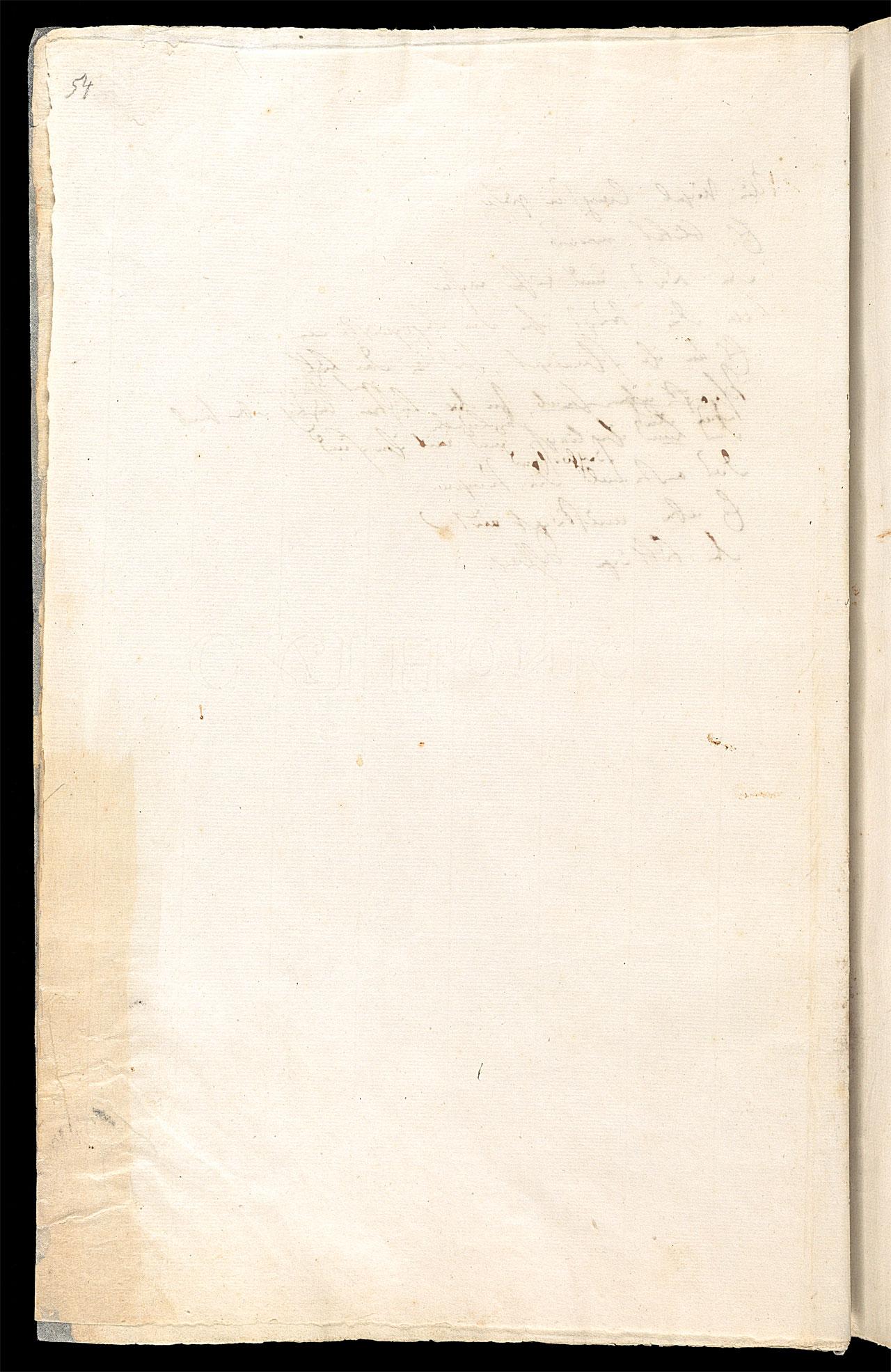 Friedrich Hölderlin, Homburger Folioheft, Seite 54, Handschrift
