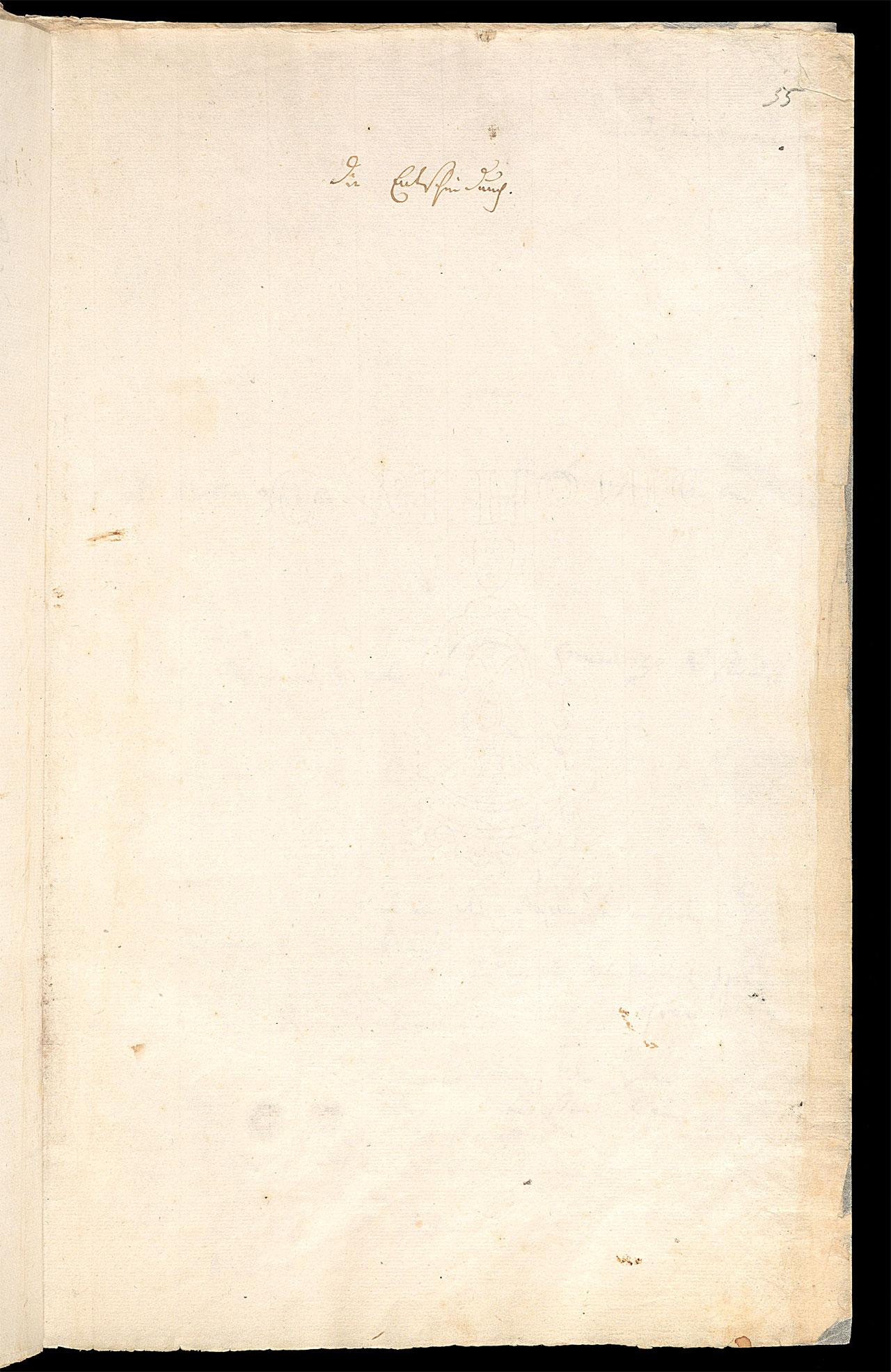 Friedrich Hölderlin, Homburger Folioheft, Seite 55, Die Entscheidung, Handschrift