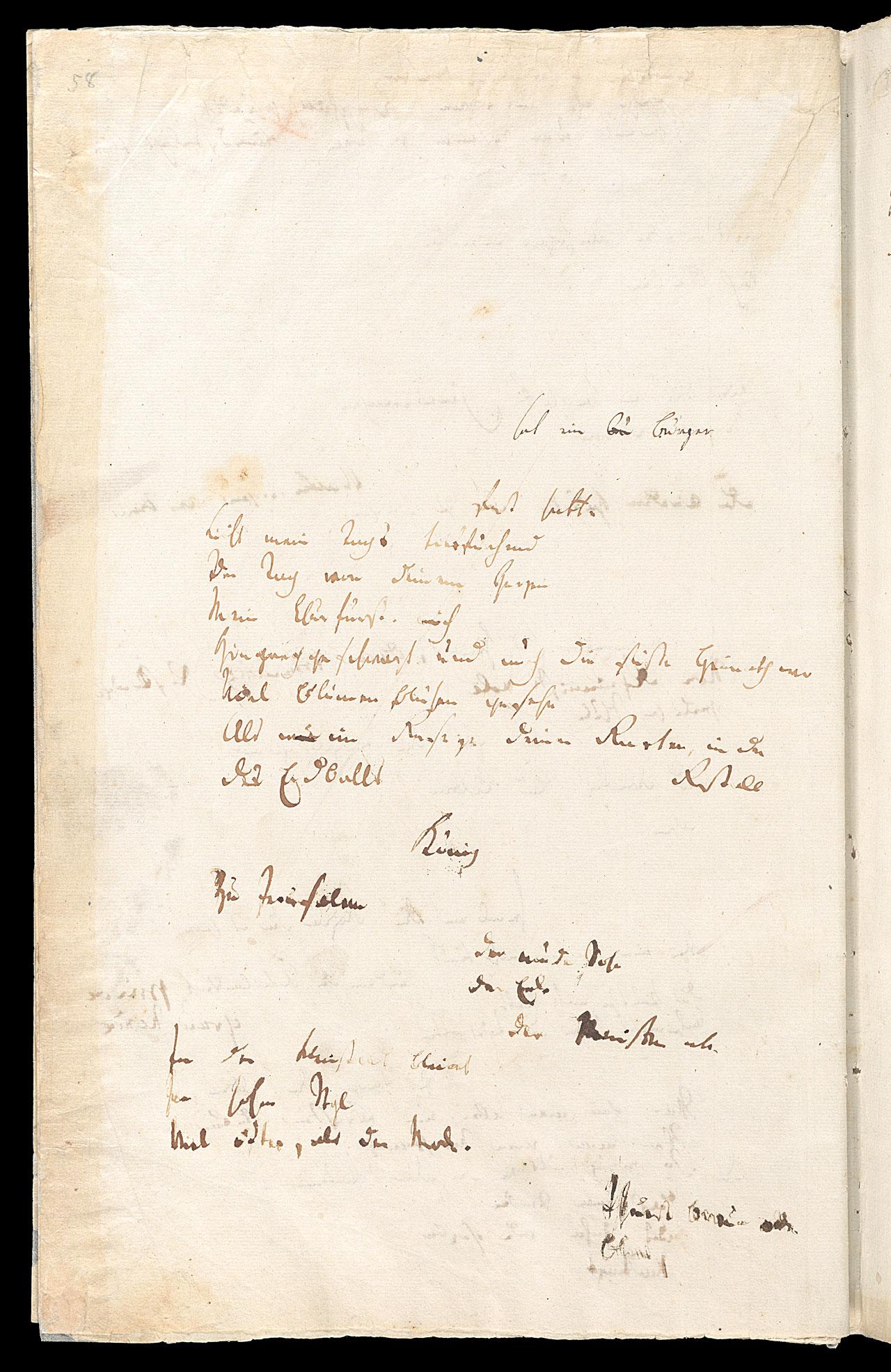 Friedrich Hölderlin, Homburger Folioheft, Seite 58, hat ein Bürger…, Handschrift