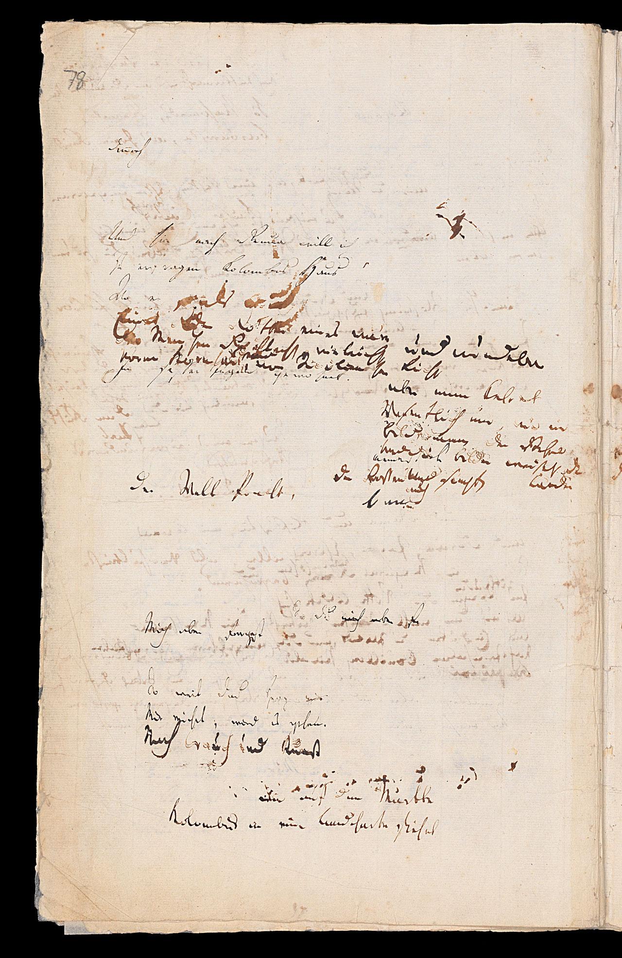 Friedrich Hölderlin, Homburger Folioheft, Seite 78, Kolomb, Handschrift