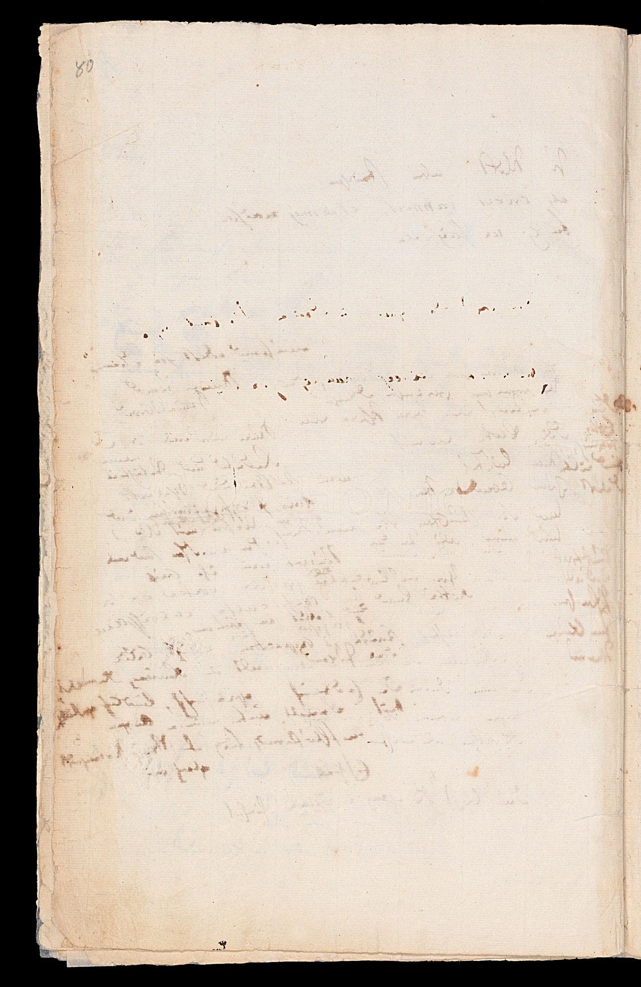 Friedrich Hölderlin, Homburger Folioheft, Seite 80, Handschrift