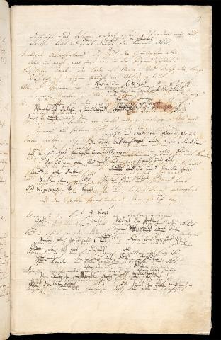 Friedrich Hölderlin, Homburger Folioheft, Seite 7, Brod und Wein, Handschrift