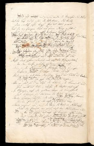 Friedrich Hölderlin, Homburger Folioheft, Seite 8, Brod und Wein, Handschrift