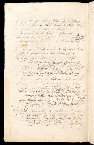 Friedrich Hölderlin, Homburger Folioheft, Seite 10, Brod und Wein, Handschrift