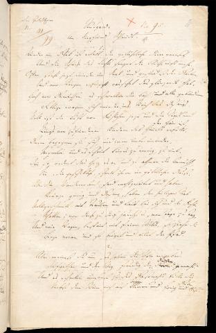 Friedrich Hölderlin, Homburger Folioheft, Seite 11, Stutgard, Handschrift