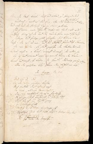 Friedrich Hölderlin, Homburger Folioheft, Seite 15, Der Einzige, Handschrift