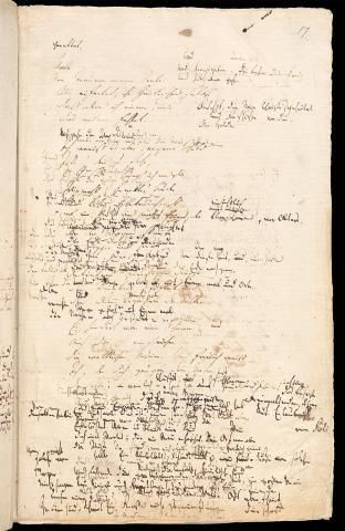 Friedrich Hölderlin, Homburger Folioheft, Seite 17, Der Einzige, Handschrift