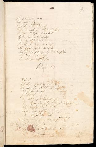 Friedrich Hölderlin, Homburger Folioheft, Seite 19, Patmos, Handschrift