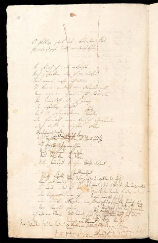 Friedrich Hölderlin, Homburger Folioheft, Seite 20, Patmos, Handschrift