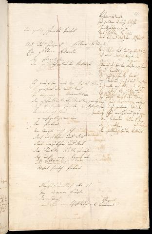 Friedrich Hölderlin, Homburger Folioheft, Seite 21, Patmos, Handschrift