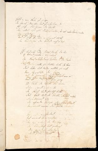 Friedrich Hölderlin, Homburger Folioheft, Seite 23, Patmos, Handschrift