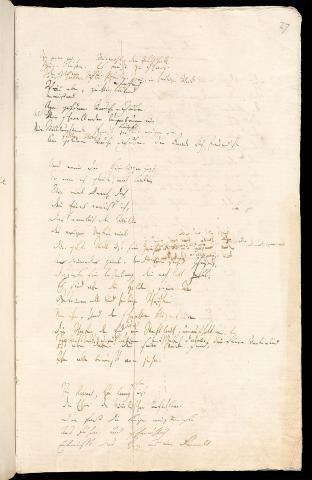 Friedrich Hölderlin, Homburger Folioheft, Seite 27, Patmos, Handschrift