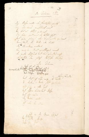 Friedrich Hölderlin, Homburger Folioheft, Seite 28, Die Titanen, Handschrift