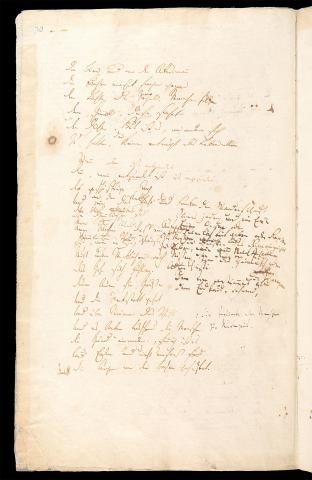 Friedrich Hölderlin, Homburger Folioheft, Seite 30, Die Titanen, Handschrift