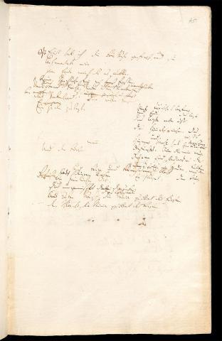 Friedrich Hölderlin, Homburger Folioheft, Seite 45, Einst hab ich die Muse gefragt…, Handschrift