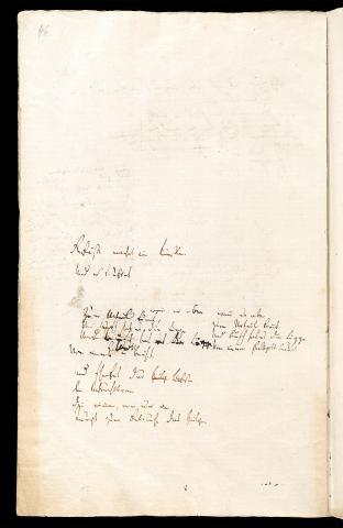 Friedrich Hölderlin, Homburger Folioheft, Seite 46, Gefäße machet ein Künstler…, Handschrift