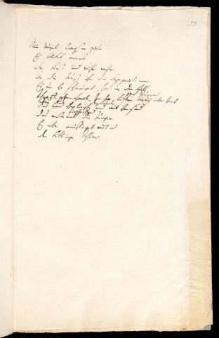 Friedrich Hölderlin, Homburger Folioheft, Seite 53, Wie Vögel langsam ziehn…, Handschrift
