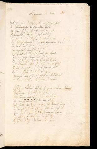 Friedrich Hölderlin, Homburger Folioheft, Seite 59, Germanien, Handschrift