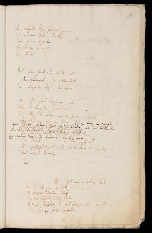 Friedrich Hölderlin, Homburger Folioheft, Seite 65, Viel hab' ich dein…, Handschrift