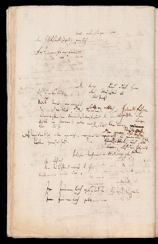 Friedrich Hölderlin, Homburger Folioheft, Seite 70, wir aber singen…, Handschrift