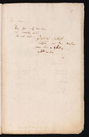 Friedrich Hölderlin, Homburger Folioheft, Seite 71, Wir singen aber…, Handschrift