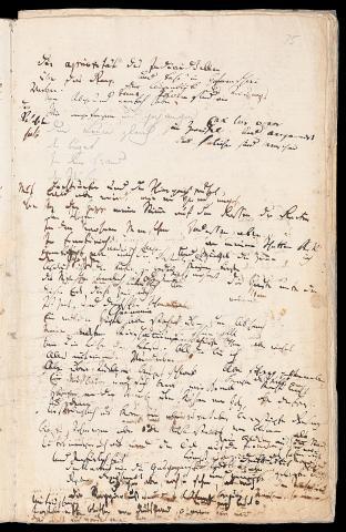 Friedrich Hölderlin, Homburger Folioheft, Seite 75, Vom Abgrund nemlich…, Handschrift