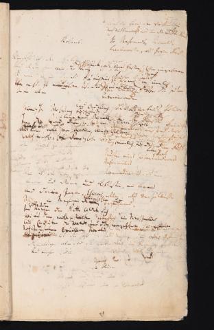 Friedrich Hölderlin, Homburger Folioheft, Seite 77, Kolomb, Handschrift