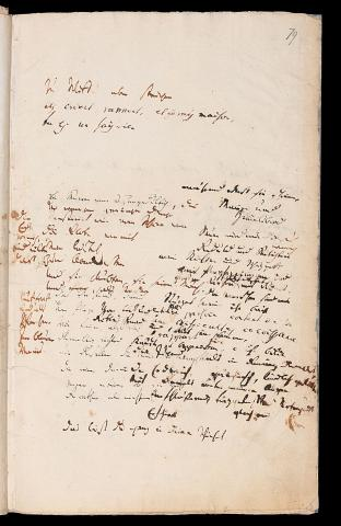 Friedrich Hölderlin, Homburger Folioheft, Seite 79, Kolomb, Handschrift