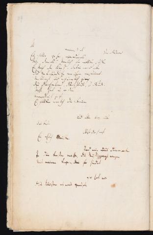 Friedrich Hölderlin, Homburger Folioheft, Seite 84, meinest du Es solle gehen…, Handschrift