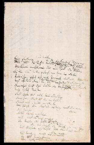 Friedrich Hölderlin, Homburger Folioheft, Seite 89, der Vatikan, Hier sind wir…, Handschrift